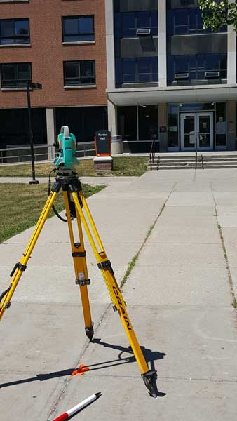 Porter Hall Topographic Land Survey in Buffalo NY